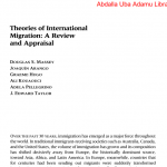 CEMGS - Theories of International Migration