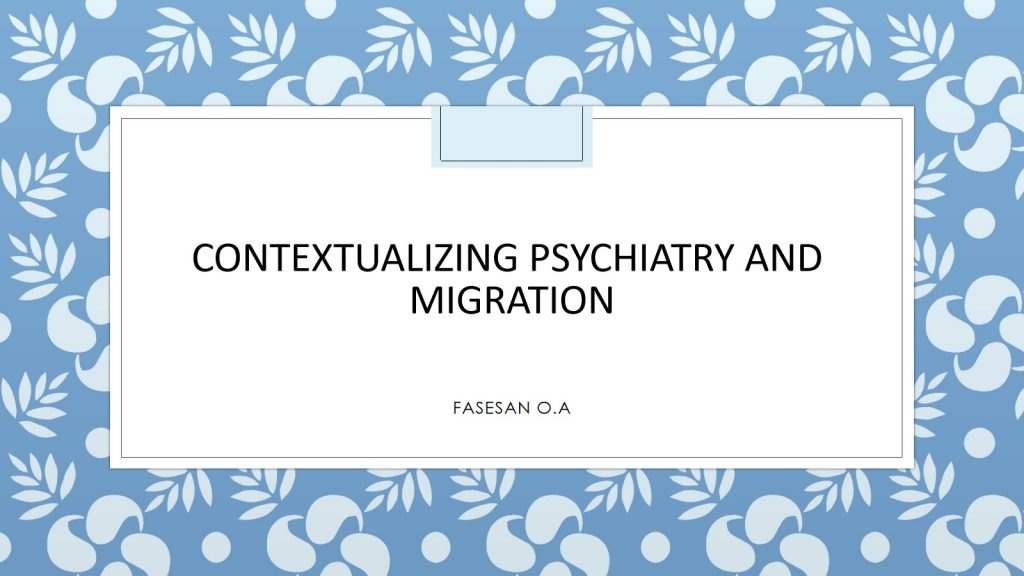 CEMGS - Contextualizing Psychiatry And Migration
